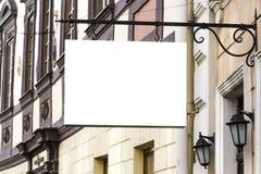 signboard Derisione su forma rettangolare immagini stock libere da diritti