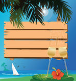 Signboard and drink Royalty Free Stock Photos