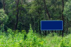 Signboard in the Forest Royalty Free Stock Photography