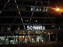 Signboard of 50Hertz transmission system operator royalty free stock photos