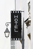 Signboard of the hotel Royalty Free Stock Images