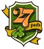 signboard irlandzki tasiemkowy styl Zdjęcia Stock