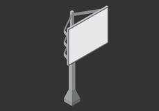 Signboard isometric płaski wektor 3d Royalty Ilustracja