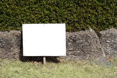 Signboard on the lawn. A signboard on the lawn Stock Photos