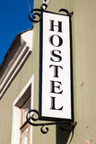 Hostel sign Royalty Free Stock Image