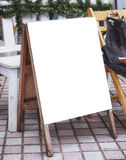 Signboard Menu Frame stand Blank Shop front outdoor Royalty Free Stock Photo