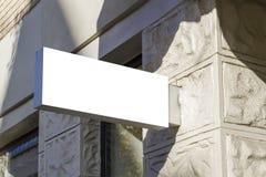 Signboard. Mock up. Oldtown. Signboard. Mock up rectangular shape. Oldtown view stock images