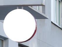 signboard Mofa para arriba Dimensión de una variable redonda imagen de archivo libre de regalías