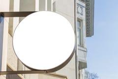 signboard Mofa para arriba Dimensión de una variable redonda imagenes de archivo