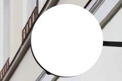 signboard Mofa para arriba Dimensión de una variable redonda foto de archivo libre de regalías