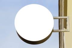 signboard Mofa para arriba Dimensión de una variable redonda fotografía de archivo libre de regalías