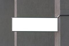 signboard Mofa rectangular de la forma para arriba en la pared imagen de archivo libre de regalías