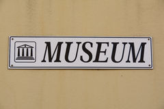 Signboard Museum Stock Photo