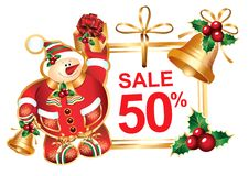 Signboard: New Year's sale vector illustration