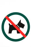 Signboard no dogs Royalty Free Stock Photography