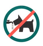 Signboard  no dogs Stock Image