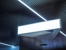 Signboard obwieszenie w budynku pustego miejsca znaku z światłem Zdjęcie Royalty Free