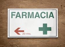 Signboard pharmacy Stock Photos