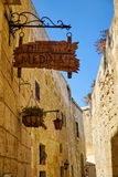 """The signboard of restaurant """"Medina"""" on the street of the ol Stock Image"""