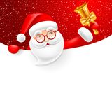 Signboard with Santa Claus Royalty Free Stock Photography