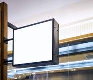Signboard shop Mock up Black Frame Display Retail. Signboard shop Mock up Black metal Frame Display Retail Stock Images