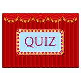 Young cheerful people participate in entertainment quiz. royalty free illustration