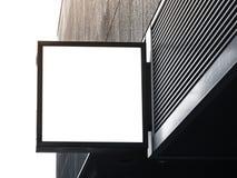 Signboard sklepu egzaminu próbnego up kwadrata kształta pokaz Zdjęcie Royalty Free