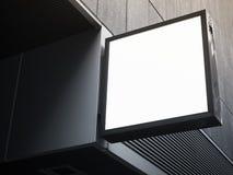 Signboard sklepu egzaminu próbnego up kwadrata kształta pokazu perspektywa Zdjęcia Royalty Free