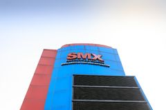 Signboard of SMX at Mall of Asia shopping mall in Pasay, Manila city. Manila, Philippines - Feb 10, 2018 : Signboard of SMX at Mall of Asia shopping mall in Royalty Free Stock Images