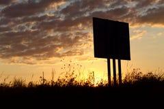 Signboard at sunrise Stock Photo