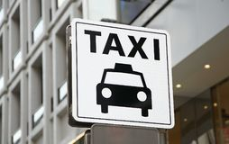 Signboard of the taxi stand of the town. Scene of the signboard of the taxi stand of the town of Japan stock photo