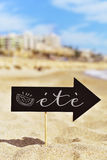 Signboard with the text ete, summer in french Royalty Free Stock Image