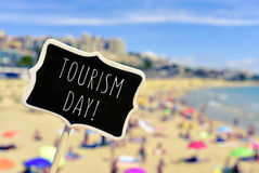 Signboard with the text tourism day Royalty Free Stock Image