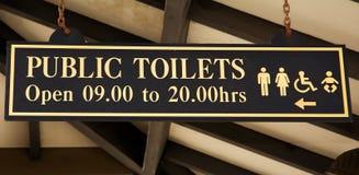 Signboard toilette zdjęcia royalty free