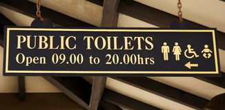 Signboard of toilette Royalty Free Stock Photos