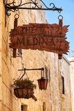 The signboard of the well-known restaurant Medina Royalty Free Stock Photography