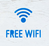 Signboard wifi. Stock Photography