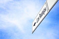 Signboard wskazuje w kierunku Los Realejos zdjęcia royalty free