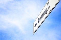 Signboard wskazuje w kierunku Woodbridge Royalty Ilustracja