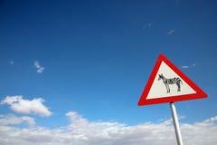 Signboard zebra Royalty Free Stock Image
