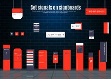 Signboards for business stock photography