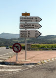 Signboards in Catalonia Royalty Free Stock Images