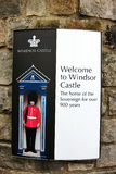 Signboards of windsor castle Stock Image