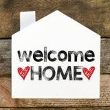 Signe à la maison bienvenu Photo libre de droits