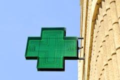 Signe à la pharmacie Photographie stock