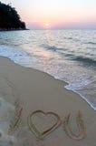 Signe à la plage Images libres de droits