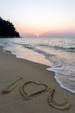 Signe à la plage Images stock