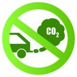 Signe écologique de transport Images libres de droits