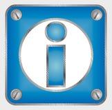 Signe 3d des informations Images libres de droits