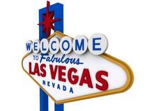 Signe 6 de Las Vegas Photos libres de droits